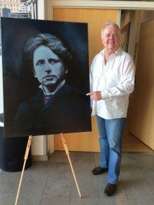 Jeppe Aakjær portrættet er malet af Theis Veile